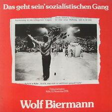 """12"""" DLP Wolf Biermann Das geht sein`sozialistischen Gang Inkl. Booklet 70`s CBS"""