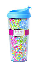 LILLY PULITZER Insulated Thermal Mug LOVER'S CORAL 16 oz Travel Cup & Lid Coffee