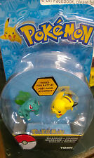 Pokemon Bulbasaur vs Pikachu figures  tomy new boxed
