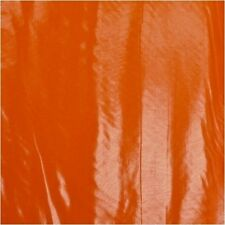 "*NEW* FAUX LEATHER DARK ORANGE PLEATHER FABRIC SWATCH 12"" X 6"""