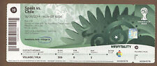 Used Ticket   Fifa World Cup Brazil 2014   SPAIN - CHILE // match 19  !!  Edt. A