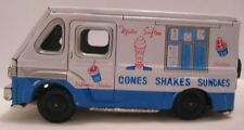 Colorful Antique Tin Friction Toy Mr Softee Ice Cream Truck Japan 1960s Nice!
