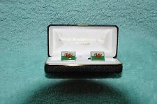 Welsh Flag Mens Cufflinks alloy ceramic rectangular