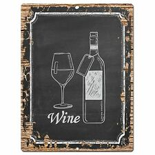 PP0735 Wine Plate Sign Home Bar Kitchen Store  Pub Restaurant Decor Gift