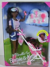 NIB BARBIE DOLL 1995 STROLLIN' FUN BARBIE AND KELLY BLACK AA