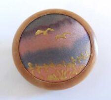 Diseño vintage bordado de madera Broche/Pin con escena de aves/Vida Salvaje