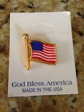 God Bless America Flag Patriotic Lapel Pins Independence Made in USA
