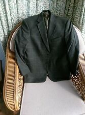 Marks and Spencer Pure New Wool Mens Jacket Olive Green Grey Chest 42