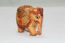 Indian Handicraft, Resin, Elephant Carved Painted  Decorative Gift item
