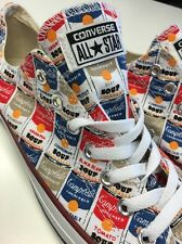Andy Warhol Converse Trainers Men's Shoes New Size UK 6.5 Campbells Soup Design
