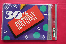 1986 30 years old 30TH Birthday PARTY invitation---8  NEW IN PACKAGE---