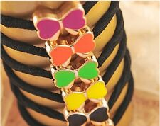 Trendy Candy-Colored Rubber Bands Girl Headdress Jewelry Headband Exquisite 5Pcs