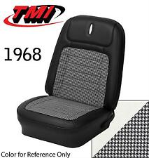 1968 68 Camaro Coupe Z28 Front Rear Seat Upholstery Parchment Pearl Houndstooth