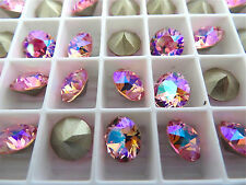 6 Light Rose AB Swarovski Crystal Chaton Stone 1088 39ss 8mm