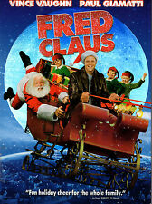 FRED CLAUS with Paul Giamatti--A Christmas Classic- Brand New DVD! Ships Free!