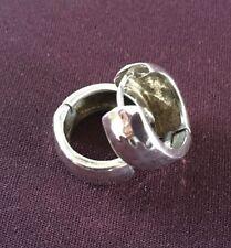 MINT SILPADA LOGO STAMPED Sterling Silver HAMMERED HUGGIE HOOP EARRINGS, P1636