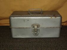VINTAGE ROCHESTER NY LIBERTY STEEL CHEST TACKLE TOOL BOX