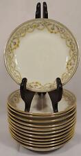 SET OF 12 LIMOGES ELITE WORKS BAWO & DOTTER YELLOW ROSE BWD13 BERRY BOWLS