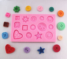 Fashion Cake Chocolate Fondant decorating Mold Buttons Silicone Baking Mold