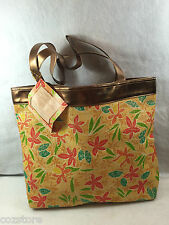 Elizabeth Arden Tropical Temptation Straw Bag Tote Shopper Large Travel Pool