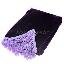 Purple Pleuche Piano Half-Cover Dust Cover Upright Piano Cover