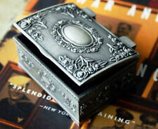 Vintage Silver Plated Small Jewellery Jewelry Trinket Box Gift!