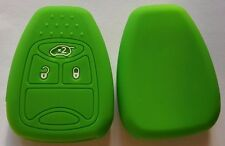 GREEN SILICONE CAR KEY COVER for JEEP DODGE CHRYSLER COMPASS CALIBER DURANGO RAM
