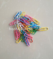 50pc Assorted Mixed Colored Paper Clips For Office School study Stationery