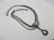 Silpada 925 Sterling Silver 3 Strand Beaded Chain Necklace 47.75g. #559