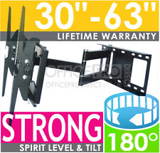 SWIVEL CANTILEVER ARM CORNER WALL TV BRACKET LED LCD FOR LG JVC 32 37 40 42 47+