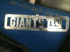 Plasma Cut NY Giants Plaque metal Sign mancave Garage/Wall Decor