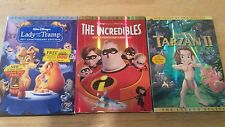 Disney DVD lot  the incredibles, lady and the tramp, tarzan 2  Free Priority shi