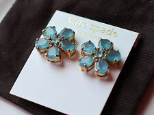 Kate Spade New York FIORELLA FLOWER EARRINGS LONDON TOPAZ BLUE CRYSTALS STUD