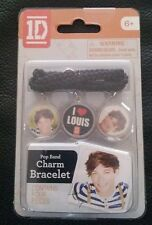 ONE DIRECTION 1D CHARM BRACELET WITH 3 CHARMS LOUIS BRAND NEW UN-OPENED