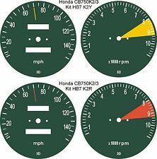 HONDA CB750 K2 K3 F1 F2 FOUR SPEEDOMETER TACH REV COUNTER GAUGE DIAL OVERLAYS