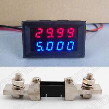 200V 200A DC Digital LED Voltmeter Ammeter Amp Volt Meter + 200A shunt 12v 24v