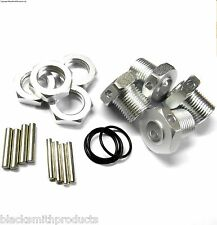 57885S 1/8 Scale RC Buggy M17 17mm Alloy Wheel Hubs Adapter Nut Pin Silver x 4