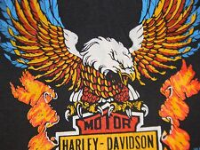 vtg 70s 80s HARLEY DAVIDSON MOTORCYCLES FOR THE PEOPLE dealer t shirt 3D EMBLEM