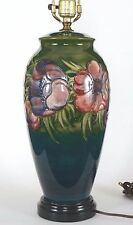 Vintage Moorcroft Pottery Anemone Lamp 28 3/4 inches