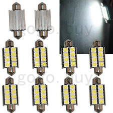 "10 x 39mm 1.55"" White LED Dome Festoon Map Light Bulb 8 SMD Canbus Error Free"