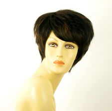 wig for women 100% natural hair black and copper intense ref ALICE 1b30 PERUK