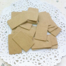 100x Brown kraft blank rectangle gift swing tags paper party wedding favour FT