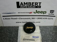 Jeep Wrangler Cherokee Comanche Wheel Center Cap with Gold Jeep New OEM