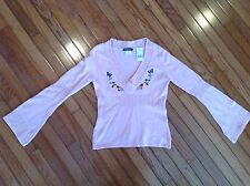 NWT COOLWEAR V Neck Top Blouse Size L Pink MSRP $34