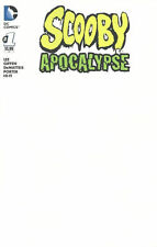 Scooby Apocalypse 1 Blank Sketch Cover Variant DC Comics 2016 movie 1st