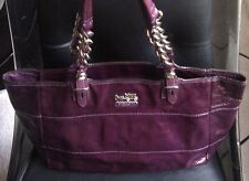 AUTHENTIC COACH MADISON TRIBECCA PATENT LEATHER TOTE BAG PURSE 14123 PURPLE/PLUM