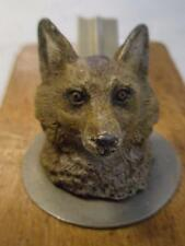 """STUNNING Antique """"FOXES MASK"""" Cold Spelter Paper Clip."""