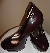 Steve Madden Patent Leather Pumps 8.5 Burgundy