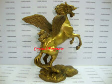 Feng Shui - 2015 Brass Flying Dragon Horse with Pi Yao