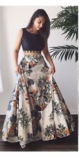 Indian Bollywood Designer Suit Gown Dress Lehenga Blouse Skirt Pakistani Top
